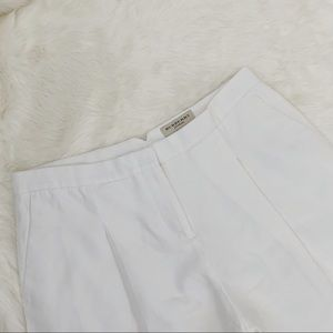 BURBERRY White Cropped Trouser Pants